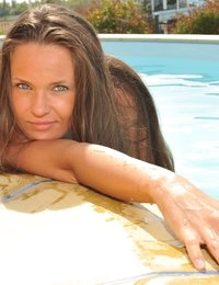 Anastasia Petrova bikini pool russian beauty