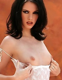 Amber is a fair skinned brunette with a lovely thin body