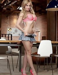 Angela Sommers couldn't be any sexier in her lingerie