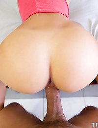 Very cute and petite adorable new Marina Angel is very shy at first until she sees a huge cock in her face shes sucks and gets fucked very hard