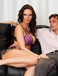 Jennifer Dark loves Alan Stafford and wants to show all her appreciation she has for him and his hard member.