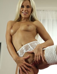 Hot blonde Lola teases with sex toys