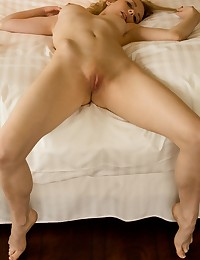 Roxanne Day climbs into bed