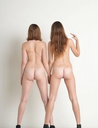 "The Hill Twins are back today for a few more photos from their ""white on white"" series."